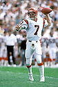 Cincinnati Bengals, Boomer Esiason(7) in actions during a game against the Chicago Bears on September 10, 1989 at Soldier Field in Chicago, Illinois. The Bears beat the Bengals 17-14.