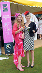 Pictured enjoying the summer fayre on the Ross Hotel / Lane Bar Champagne &amp; Cocktail Marquee at Killarney Races ladies Day on Thursday were from left, Martina Harrington, Killorglin and Caroline O'Connell, Ballyhar.<br /> Picture by Don MacMonagle<br /> <br /> <br /> PR Photo from Ross Hotel