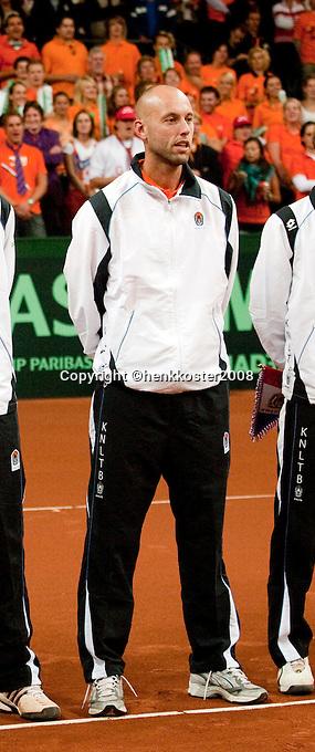 19-9-08, Netherlands, Apeldoorn, Tennis, Daviscup NL-Zuid Korea, Peter Wessels