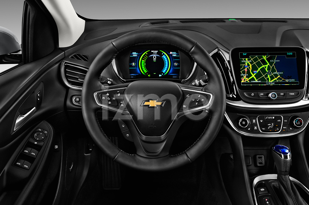 Car pictures of steering wheel view of a 2018 Chevrolet Volt Premier 5 Door Hatchback Steering Wheel