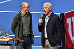 05.01.2018, Estrel Congress Center, Berlin, GER,  Internationaler DTB Tenniskongress 2019 <br /> <br /> im Bild Matthias Stach (li.) im Talk mit Boris Becker (re.)<br /> <br /> Foto &copy; nordphoto/Mauelshagen