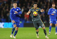 Leicester City's Vicente Iborra under pressure from Cardiff City's Callum Paterson<br /> <br /> Photographer Kevin Barnes/CameraSport<br /> <br /> The Premier League -  Cardiff City v Leicester City - Saturday 3rd November 2018 - Cardiff City Stadium - Cardiff<br /> <br /> World Copyright © 2018 CameraSport. All rights reserved. 43 Linden Ave. Countesthorpe. Leicester. England. LE8 5PG - Tel: +44 (0) 116 277 4147 - admin@camerasport.com - www.camerasport.com