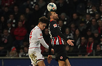 Bas Dost (Eintracht Frankfurt) gegen Noah Katterbach (1. FC Koeln) - 18.12.2019: Eintracht Frankfurt vs. 1. FC Koeln, Commerzbank Arena, 16. Spieltag<br /> DISCLAIMER: DFL regulations prohibit any use of photographs as image sequences and/or quasi-video.
