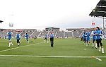 19 May 2007: Kansas City assistant coach Chris Henderson (center) leads the team's starters through pregame warmups. The Colorado Rapids and the Kansas City Wizards played to a 1-1 tie at Dick's Sporting Goods Park in Commerce City, Colorado in a Major League Soccer 2007 regular season game.