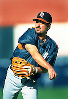 Jody Reed of the Detroit Tigers during a game at Anaheim Stadium in Anaheim, California during the 1997 season.(Larry Goren/Four Seam Images)