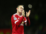 Wayne Rooney of Manchester United applauds the fans - Manchester United vs Norwich City - Barclays Premier League - Old Trafford - Manchester - 19/12/2015 Pic Philip Oldham/SportImage
