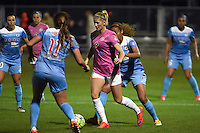 Kansas City, MO - Friday May 13, 2016: FC Kansas City defender Katie Bowen (21) against the Chicago Red Stars during a regular season National Women's Soccer League (NWSL) match at Swope Soccer Village. The match ended 0-0.