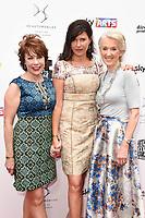 Kathy Lette, Roni Ancona and Joanna Trollope<br /> at the South Bank Sky Arts Awards 2017, Savoy Hotel, London. <br /> <br /> <br /> &copy;Ash Knotek  D3288  09/07/2017