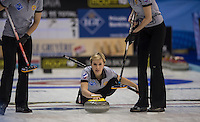 Glasgow. SCOTLAND.   Russia's Galina ARSENKINA during the  &quot;Round Robin&quot; Game. CZE vs RUS, Le Gruy&egrave;re European Curling Championships. 2016 Venue, Braehead  Scotland<br /> Monday  21/11/2016<br /> <br /> [Mandatory Credit; Peter Spurrier/Intersport-images]