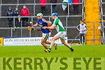 Kerry's Mikey Boyle shows brilliant control to turn Limerick's Richie McCarthy in  during their NHL Div 1B clash in Fitzgerald Stadium on Sunday