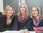 Book fans Teresa, ann and Colleen Fitzpatrick enjoying the opening of the Rolling Sun Festival event at the Clew Bay Hotel  in Westport last weekend.<br />  Pic Conor McKeown.