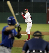 July 16, 2004:  Pitcher Nathan (Nate) Johnson of the Batavia Muckdogs, Short-Season Single-A affiliate of the Philadelphia Phillies, during a game at Dwyer Stadium in Batavia, NY.  Photo by:  Mike Janes/Four Seam Images