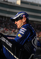 Feb. 27, 2009; Las Vegas, NV, USA; NASCAR Sprint Cup Series driver Kurt Busch during qualifying for the Shelby 427 at Las Vegas Motor Speedway. Mandatory Credit: Mark J. Rebilas-