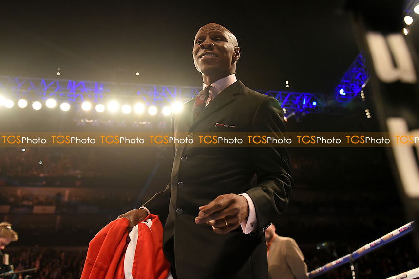 Chris Eubank looks on ahead of his son's fight with Gary O'Sullivan at the O2 Arena, London