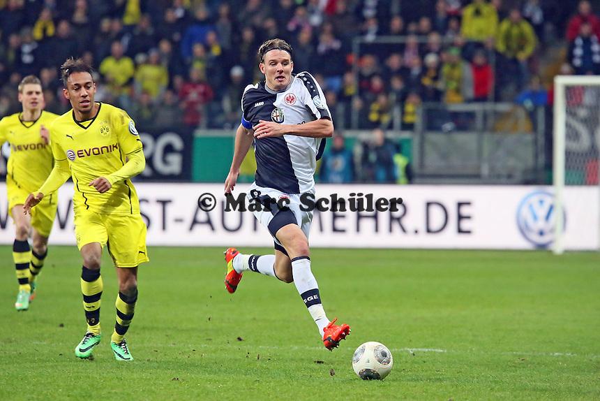 Alex Meier (Eintracht) gegen Pierre-Emerick Aubameyang (BVB) - Eintracht Frankfurt vs. Borussia Dortmund, DFB-Pokal Viertelfinale
