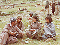 Iraq 1980  <br /> Left Mullazem Omar with Pakiza Hikmet and Runak in Nawzeng  <br /> Irak 1980 <br /> A gauche, Mullazem Omar  avec Pakizan Hikmet et Runak a Nawzeng