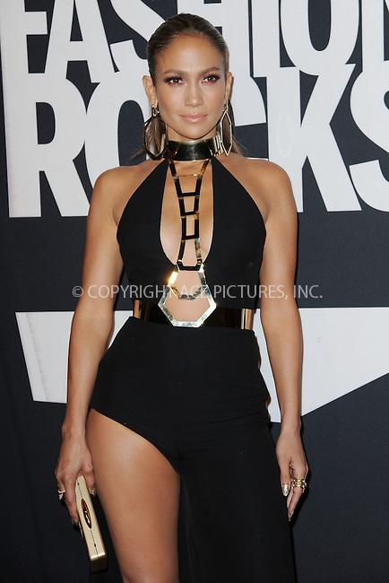 WWW.ACEPIXS.COM<br /> September 9, 2014 New York City<br /> <br /> Jennifer Lopez attending Fashion Rocks 2014 at the Barclays Center on September 9, 2014 in New York City.<br /> <br /> Please byline: Kristin Callahan/AcePictures<br /> <br /> ACEPIXS.COM<br /> <br /> Tel: (212) 243 8787 or (646) 769 0430<br /> e-mail: info@acepixs.com<br /> web: http://www.acepixs.com