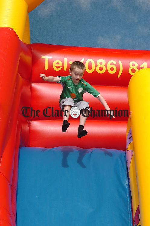 Having fun on the bouncy castle at the Rose Of Clare Festival Field Day in Coooraclare. Photograph by John Kelly.