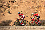 Loic Chetout (FRA) Cofidis and Markel Irizar (ESP) Trek-Segafredo in action during Stage 2 of the 2018 Tour of Oman running 167.5km from Sultan Qaboos University to Al Bustan. 14th February 2018.<br /> Picture: ASO/Muscat Municipality/Kare Dehlie Thorstad | Cyclefile<br /> <br /> <br /> All photos usage must carry mandatory copyright credit (&copy; Cyclefile | ASO/Muscat Municipality/Kare Dehlie Thorstad)