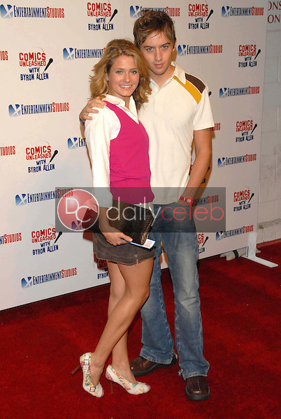 Cameron Goodman and Johnny Pacar<br />at the television premiere party for the show &quot;Comics Unleashed&quot;. Sunset Gower Studios Stage 9, Hollywood, CA. 09-25-06<br />Dave Edwards/DailyCeleb.com 818-249-4998