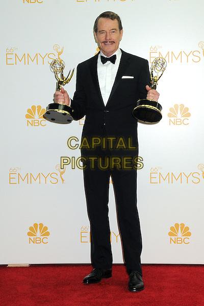25 August 2014 - Los Angeles, California - Bryan Cranston. 66th Annual Primetime Emmy Awards - Press Room held at Nokia Theatre LA Live. <br /> CAP/ADM/BGP<br /> &copy;BGP/ADM/Capital Pictures
