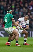 17th March 2018, Twickenham, London, England; NatWest Six Nations rugby, England versus Ireland; Jonathan Joseph of England runs towards Bundee Aki of Ireland