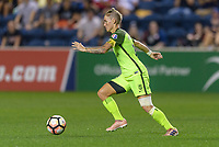 Bridgeview, IL - Wednesday August 16, 2017: Jess Fishlock during a regular season National Women's Soccer League (NWSL) match between the Chicago Red Stars and the Seattle Reign FC at Toyota Park. The Seattle Reign FC won 2-1.