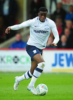 Preston North End's Stephy Mavididi<br /> <br /> Photographer Kevin Barnes/CameraSport<br /> <br /> The Carabao Cup - Accrington Stanley v Preston North End - Tuesday 8th August 2017 - Crown Ground - Accrington<br />  <br /> World Copyright &copy; 2017 CameraSport. All rights reserved. 43 Linden Ave. Countesthorpe. Leicester. England. LE8 5PG - Tel: +44 (0) 116 277 4147 - admin@camerasport.com - www.camerasport.com