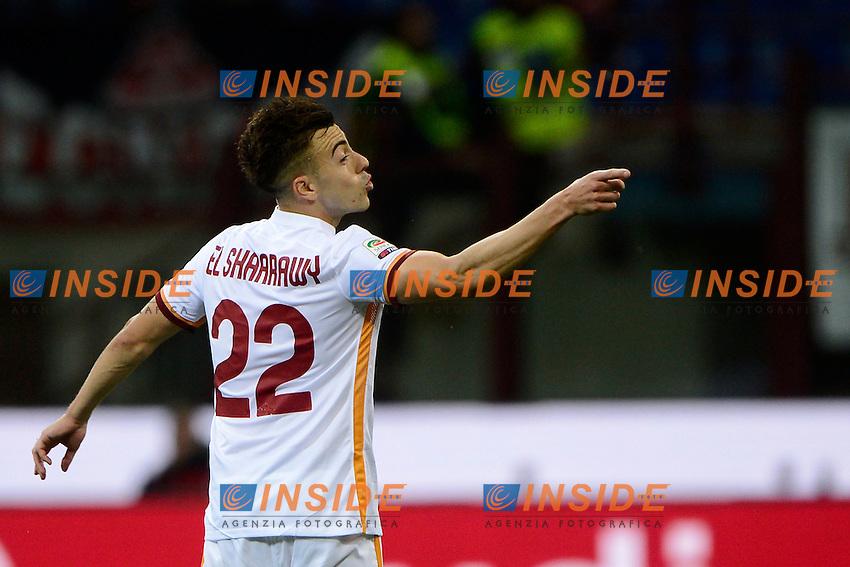 Esultanza gol di Stephan El Shaarawy Roma 0-2. Celebration goal<br /> Milano 14-05-2016 Stadio Giuseppe Meazza - Football Calcio Serie A Milan - AS Roma. Foto Giuseppe Celeste / Insidefoto
