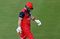 Steven Croft of Lancashire leaves the field having been caught during Lancashire Lightning vs Essex Eagles, Vitality Blast T20 Cricket at the Emirates Riverside on 4th September 2019