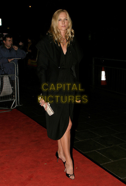 JOELY RICHARDSON.The British Independent Film Awards at Hammersmith Palais, London, UK..November 30th, 2005.Ref: AH.full length black dress jacket jewel encrusted clutch purse.www.capitalpictures.com.sales@capitalpictures.com.©Capital Pictures