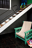 In the 1920s the apartment was an artist's studio and the open staircase is actually a signed piece by Le Corbusier