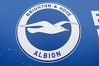 General view of Brighton & Hove Albion logo during Brighton & Hove Albion Women vs Arsenal Women, Barclays FA Women's Super League Football at Broadfield Stadium on 12th January 2020