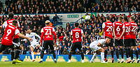 Leeds United's Lewis Baker foes close with a free kick<br /> <br /> Photographer Alex Dodd/CameraSport<br /> <br /> The EFL Sky Bet Championship - Leeds United v Brentford - Saturday 6th October 2018 - Elland Road - Leeds<br /> <br /> World Copyright &copy; 2018 CameraSport. All rights reserved. 43 Linden Ave. Countesthorpe. Leicester. England. LE8 5PG - Tel: +44 (0) 116 277 4147 - admin@camerasport.com - www.camerasport.com