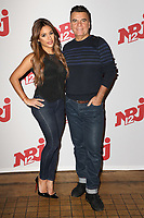 "SARAH, DOMINIQUE DAMIEN REHEL - PHOTOCALL NRJ 12 DES CANDIDATS ""FRIENDS TRIP 4"" AU BUDDHA BAR A PARIS, FRANCE, LE 14/12/2017."