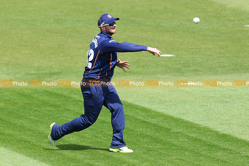 Jaik Mickleburgh of Essex throws the ball - Northamptonshire CCC 2nd XI vs Essex CCC 2nd XI - 2nd XI T20 Cricket at the County Ground, Northampton - 09/05/14 - MANDATORY CREDIT: Gavin Ellis/TGSPHOTO - Self billing applies where appropriate - 0845 094 6026 - contact@tgsphoto.co.uk - NO UNPAID USE
