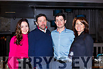 The Grey family from Tralee enjoying a night out in No4 The Square celebrating Adrian&rsquo;s 60th.<br /> L-r, Sally, Adrian, Andrew and Liz Grey.