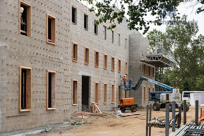 Sept. 28, 2015; Flaherty Hall construction. (Photo by Matt Cashore/University of Notre Dame)