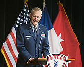 Colonel David Almand, Vice Commander of the 6th Air Mobility Wing - The 2012 Hobey Baker Award ceremony was held at MacDill Air Force Base on Friday, April 6, 2012, in Tampa, Florida.