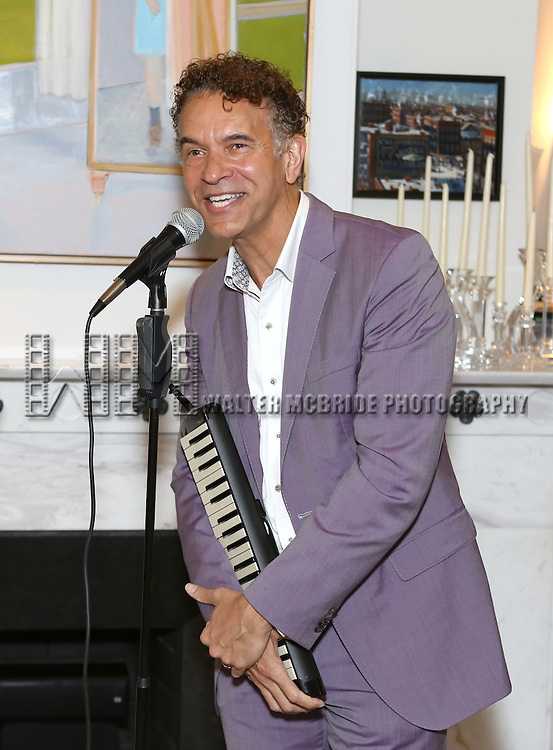 Brian Stokes Mitchell performs at the 'Parlor Night' A benefit evening for The Broadway Inspirational Voices Outreach Program at the home of Roy and Jenny Neiderhoffer on June 22, 2015 in New York City.