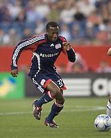 New England Revolution midfielder Sainey Nyassi (31) moves toward goal. The New England Revolution tied DC United, 2-2, in Gillette Stadium on May 29, 2008.
