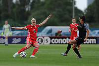 Rhiannon Roberts of Wales Women's' in action during the Women's International Friendly match between Wales and New Zealand at the Cardiff International Sports Stadium in Cardiff, Wales, UK. Tuesday 04 June, 2019