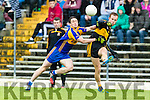 Fionn Fitzgerald Dr Crokes in action against Stephen O'Brien Kenmare District in the Senior County Football Championship final at Fitzgerald Stadium on Sunday.