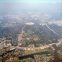 1998 September 05..Aerial..High altitude of census tracts around Elizabeth River in Portsmouth & Norfolk..Gene Woolridge.NEG# 11678 - 44.NRHA#..