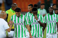 MEDELLÍN -COLOMBIA-01-03-2014. Jugadores de Atlético Nacional celebran la victoria sobre Independiente Medellín en partido de la fecha 9 en la Liga Postobón I 2014 realizado en el estadio Atanasio Girardot de la ciudad de Medellín./ Players of Atletico Nacional celebrate the victory over Independiente Medellin in match for the 9th date of Postobon  League I 2014 at Atanasio Girardot stadium in Medellin city. Photo: VizzorImage/Luis Ríos/STR