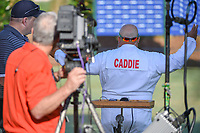 ESPN golf analyst, Michael Collins prepares for his piece during round 1 of The Players Championship, TPC Sawgrass, at Ponte Vedra, Florida, USA. 5/10/2018.<br /> Picture: Golffile | Ken Murray<br /> <br /> <br /> All photo usage must carry mandatory copyright credit (&copy; Golffile | Ken Murray)
