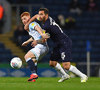 Blackburn Rovers' Harrison Reed battles with Derby County's Bradley Johnson<br /> <br /> Photographer Dave Howarth/CameraSport<br /> <br /> The EFL Sky Bet Championship - Blackburn Rovers v Derby County -Tuesday 9th April 2019 - Ewood Park - Blackburn<br /> <br /> World Copyright &copy; 2019 CameraSport. All rights reserved. 43 Linden Ave. Countesthorpe. Leicester. England. LE8 5PG - Tel: +44 (0) 116 277 4147 - admin@camerasport.com - www.camerasport.com