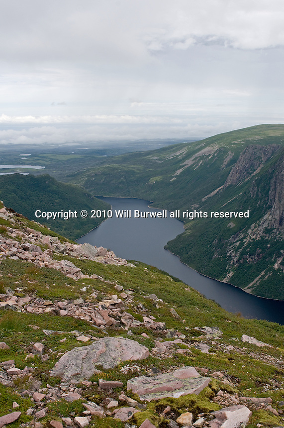 View of Ten Mile Pond from Summit of Gros Morne Mountain