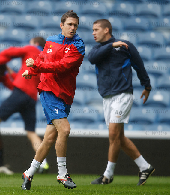 Matt McKay training at Ibrox
