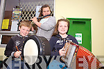 Brendan Brosnan, Mary Delee and Aoife Brosnan from Templeglantine pictured last Sunday in Brosna at the annual Con Curtin music festival.